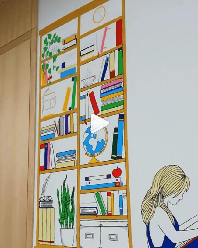 Create a colorful shelf