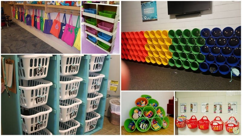 Classroom cubby collage