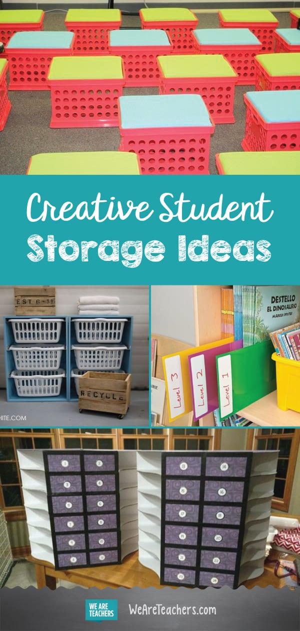 Best of WeAreTeachers HELPLINE: Creative Student Storage Ideas