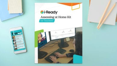 I-Ready guide to support remote assessment.