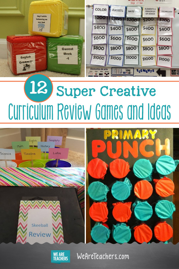 12 Super Creative Curriculum Review Games and Ideas