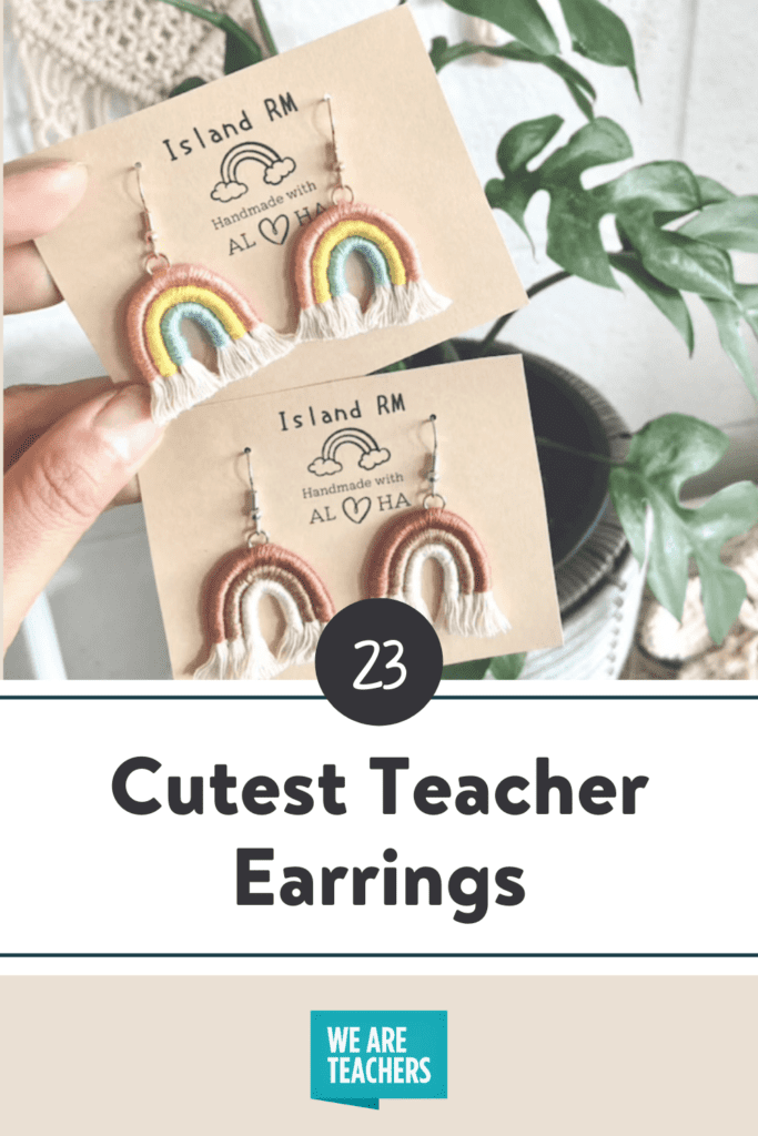 The Cutest Earrings for Adding a Little Teacher Flair to Any Outfit