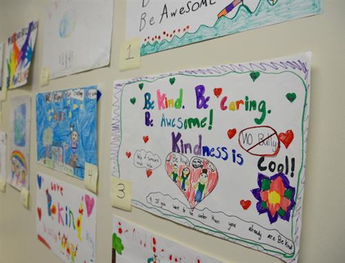 Kindness posters on wall
