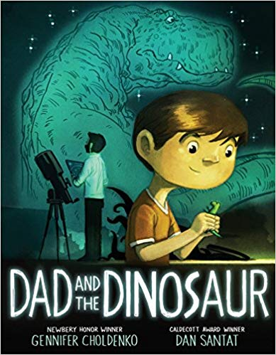 Book cover for Dad and the Dinosaur as an example of dinosaur books for kids