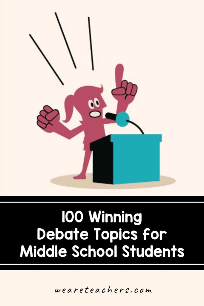 100 Winning Debate Topics for Middle School Students
