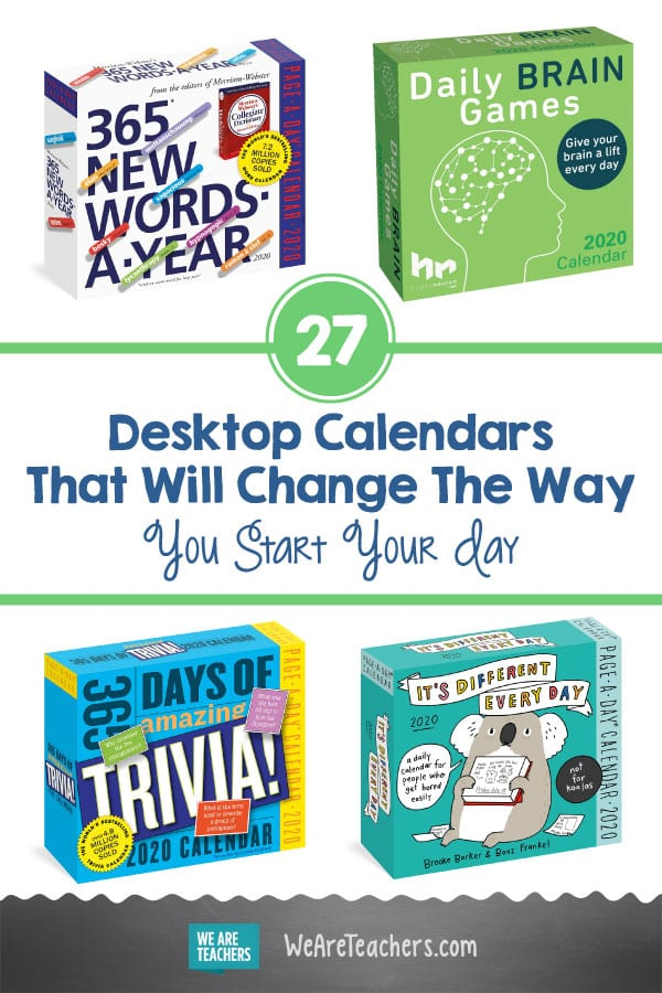 27 Desktop Calendars That Will Change the Way You Start Your Day
