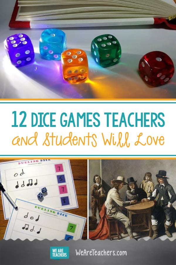 12 Dice Games Teachers and Students Will Love