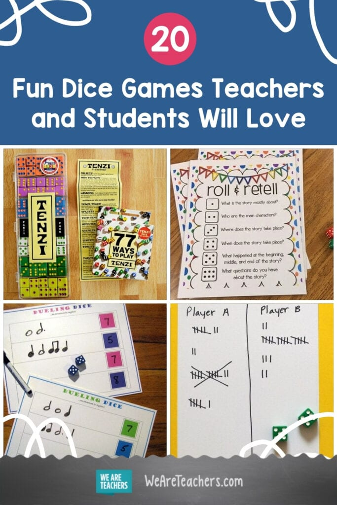 20 Fun Dice Games Teachers and Students Will Love