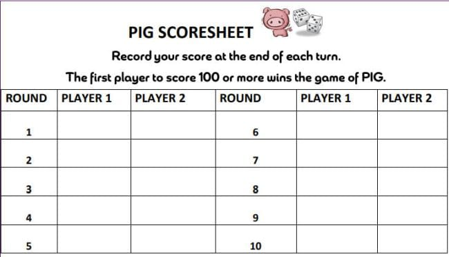 Dice Games Pig Zeno