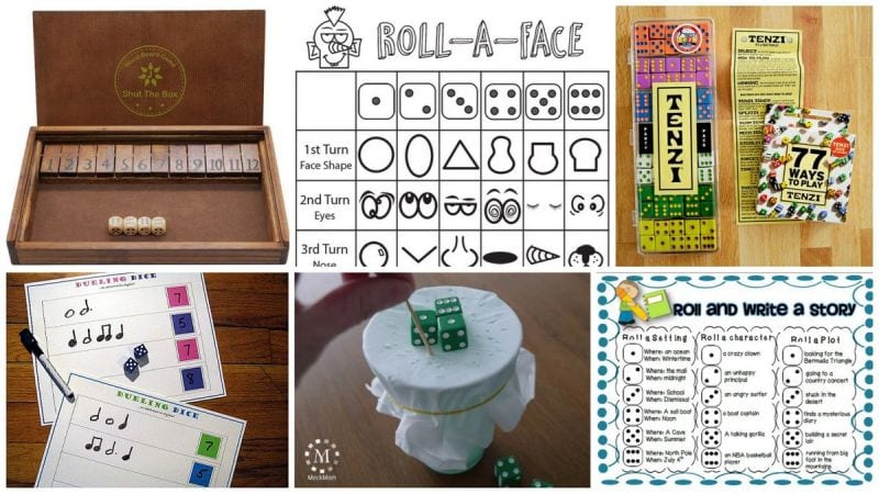 Collage of Dice Games