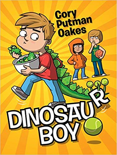 Book cover for Dinosaur Boy as an example of dinosaur books for kids