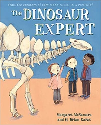 Book cover for The Dinosaur Expert as an example of dinosaur books for kids