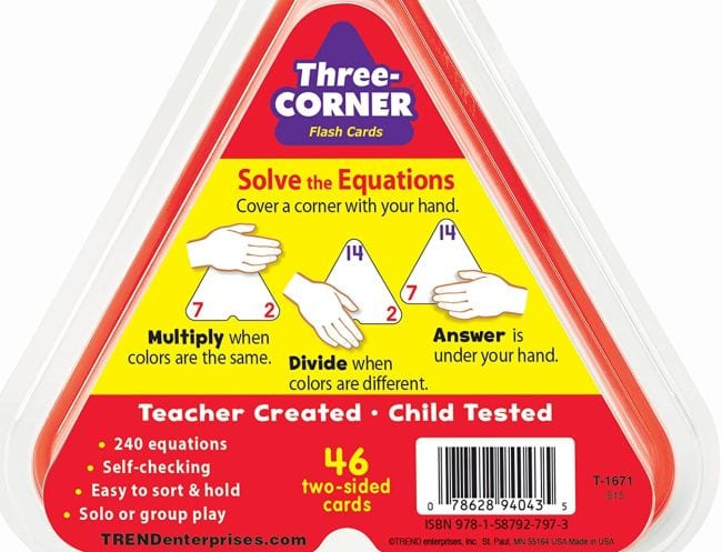 Three-Corner Flash Cards (Teaching Division)