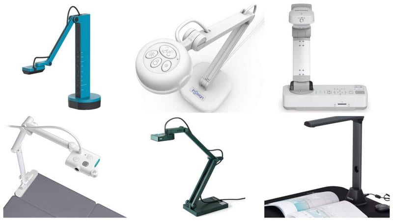 Collage of Document Cameras for Teachers
