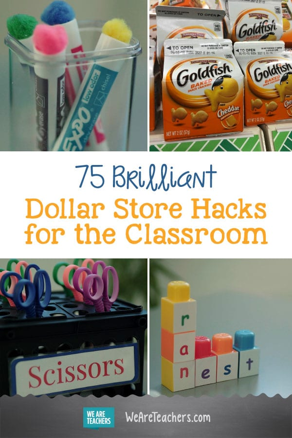 75 Brilliant Dollar Store Hacks for the Classroom