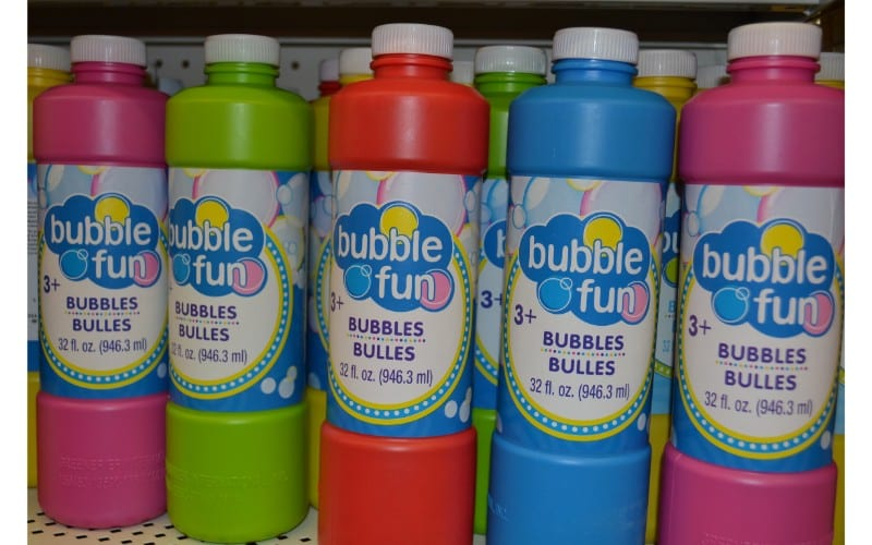 Bubbles dollar store hacks