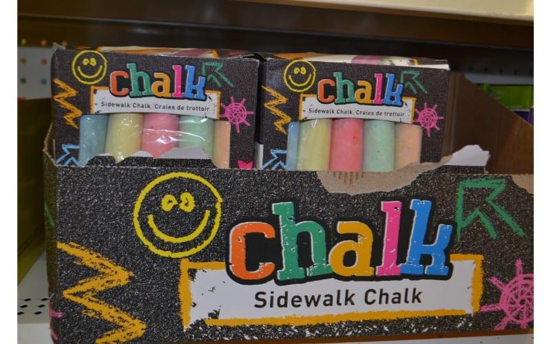 Sidewalk chalk dollar store hacks