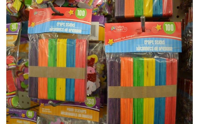 Popsicle sticks dollar store hacks