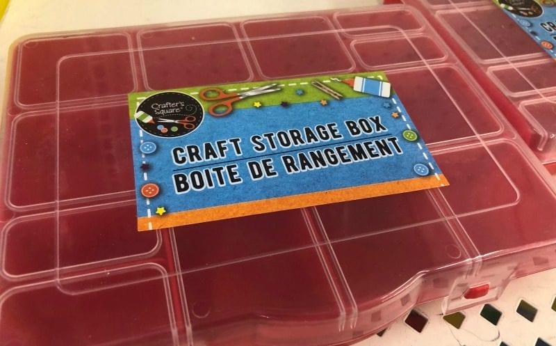 Craft storage box