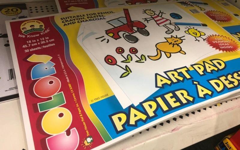 Art pads dollar store hacks