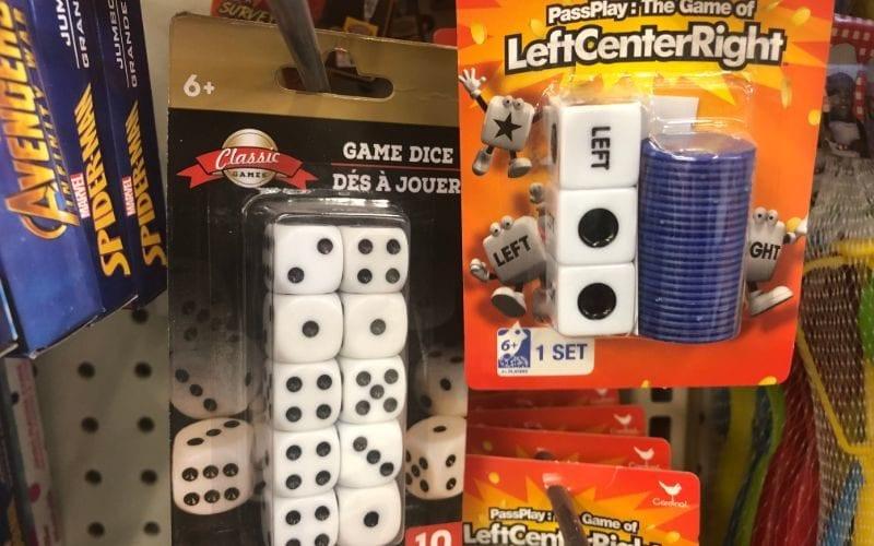 Dice dollar store hacks