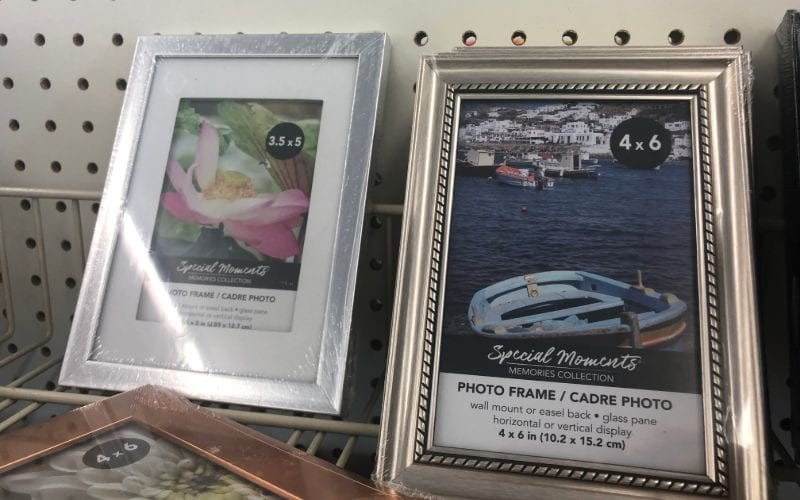 Photo frames dollar store hacks