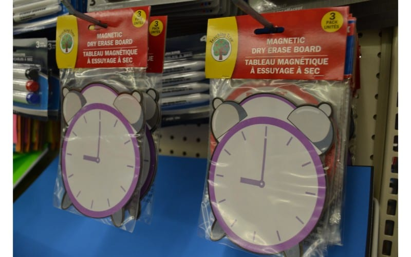 Dry erase clocks dollar store hacks