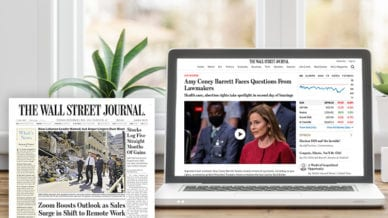 Wall Street Journal Magazine and Article on Computer
