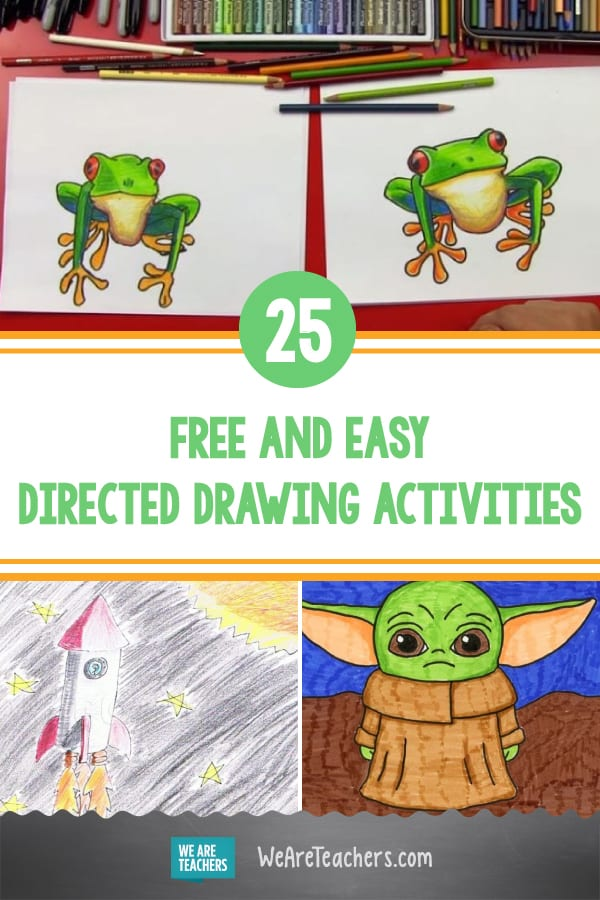25 Free and Easy Directed Drawing Activities Anyone Can Do