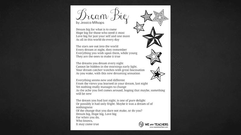 image about Printable Poem named Printable: Desire Large Poem - WeAreTeachers