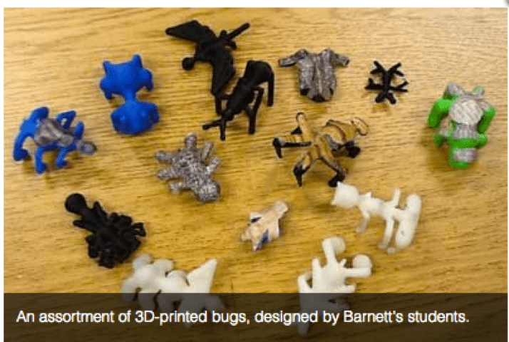 Design and Print Bugs - 9 Amazing Ways Teachers Can Use a 3D Printer to Teach Math and Science