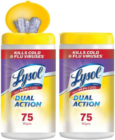 Dual Action Disinfecting Wipes