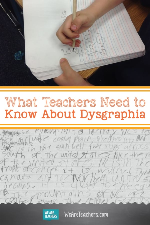 What Teachers Need to Know About Dysgraphia