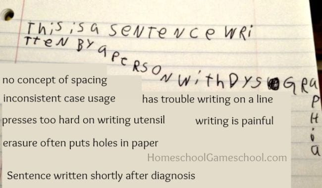 Dysgraphia Homeschool Games