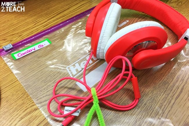 Earbud Storage More Time 2 Teach