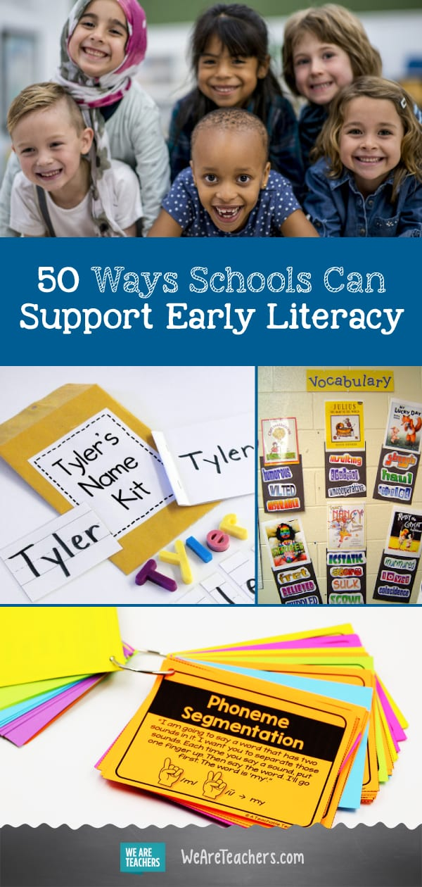 50 Ways Schools Can Support Early Literacy