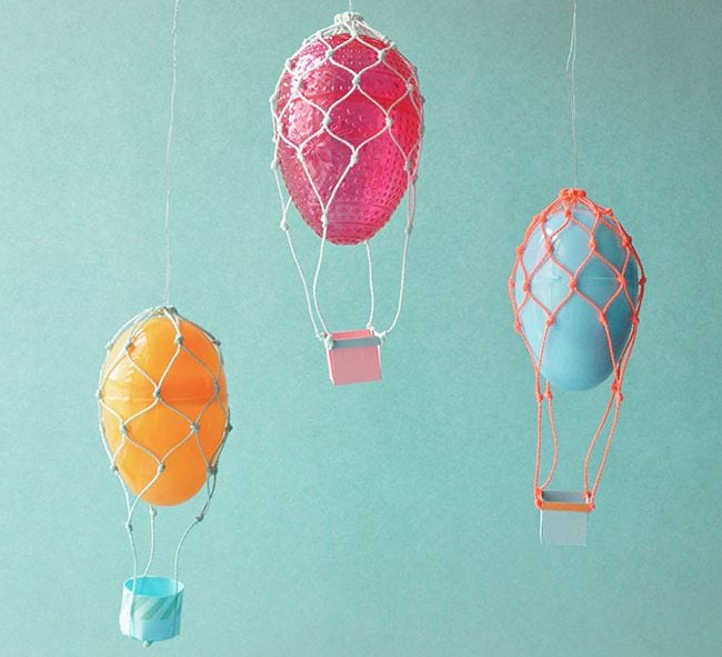 Easter Egg shaped like a hot air balloon -- easter egg activities