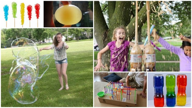 Collage of Easy Science Experiments