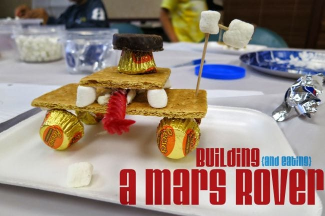 Edible Science Mars Rover