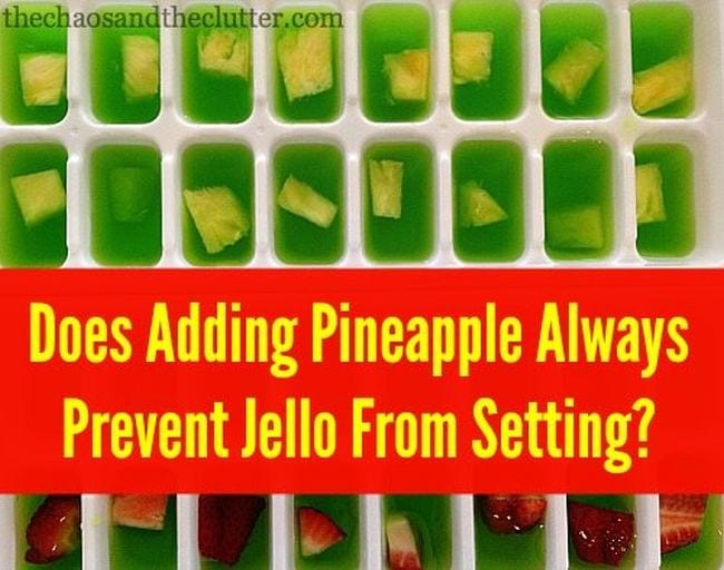 Edible Science Pineapple Jello