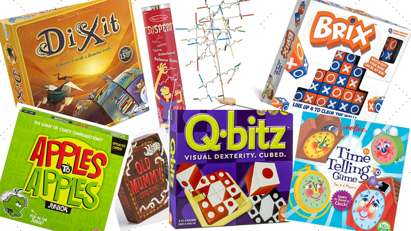 Various board games.