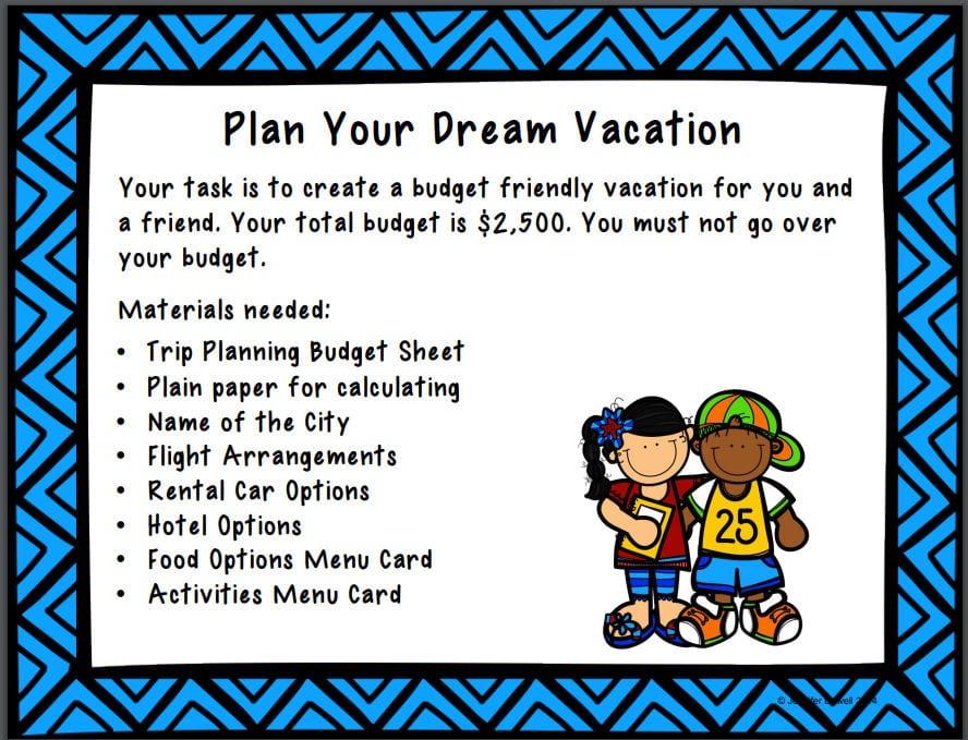 End of Year Plan a Vacation