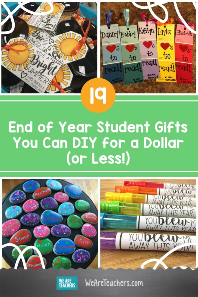 19 End of Year Student Gifts You Can DIY for a Dollar (or Less!)