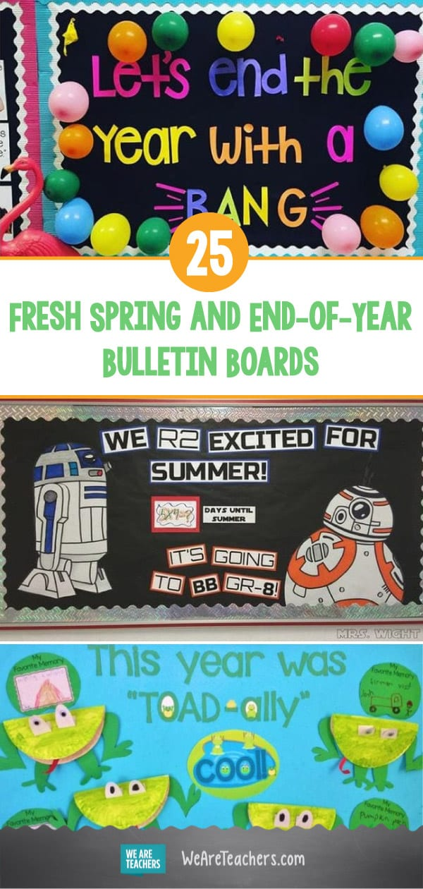25 Fresh Spring and End-of-Year Bulletin Boards