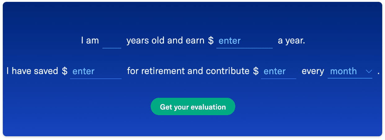 Easily estimate your retirement income need