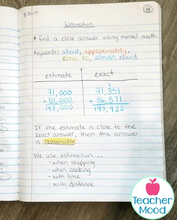 Estimation Activities Teacher Mood