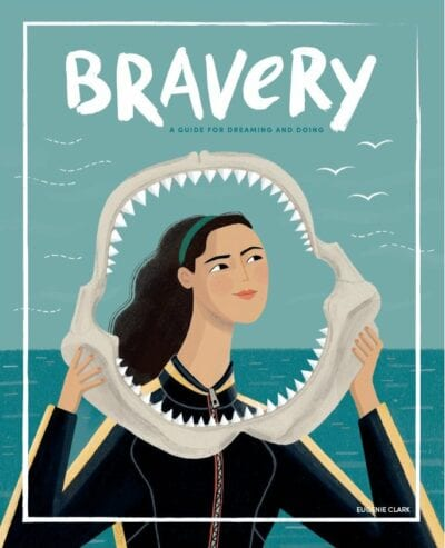 Illustration of Eugenie Clark on cover of Bravery Magazine