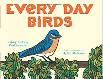 Book Cover for Everyday Birds; example of spring books for kids