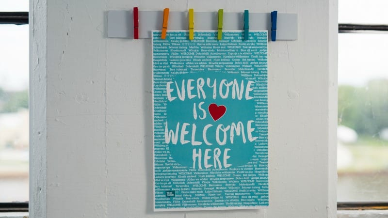 Everyone is Welcome Here: Download This Free Poster