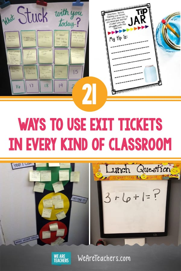 21 Ways to Use Exit Tickets in Every Kind of Classroom (Including Online)